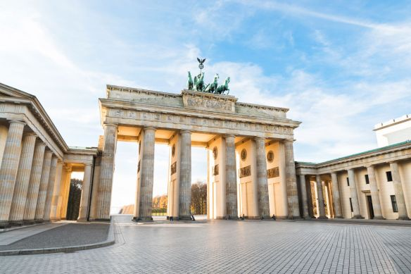 The Famous Brandenburg Gate In Berlin. Germany.
