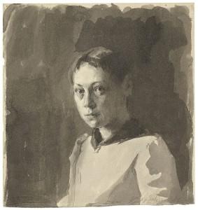 kaethe-kollwitz-selbstbildnis-1888